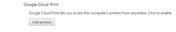 Add printer in Google Chrome