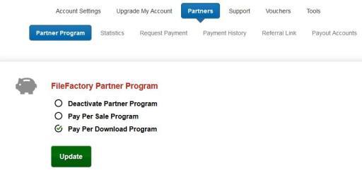 FileFactory Partner Program