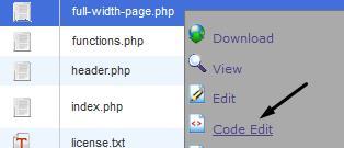 Edit WordPress Page Template File