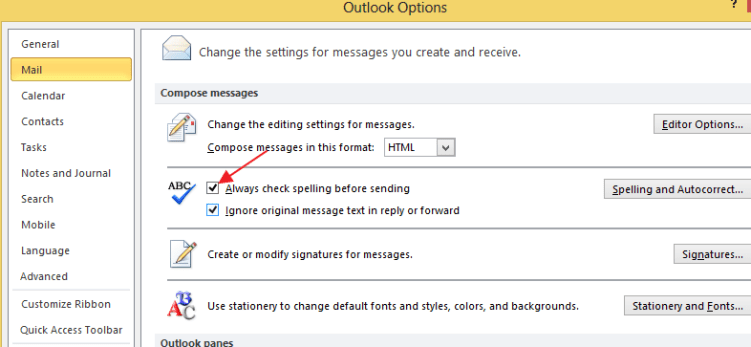 How to Configure Outlook 2010 Spell Check & Auto Correction