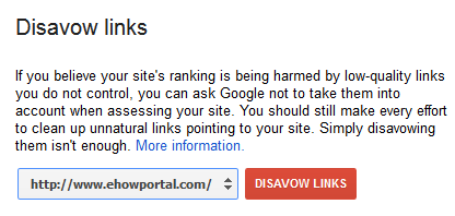 Using Disavow Links Tool