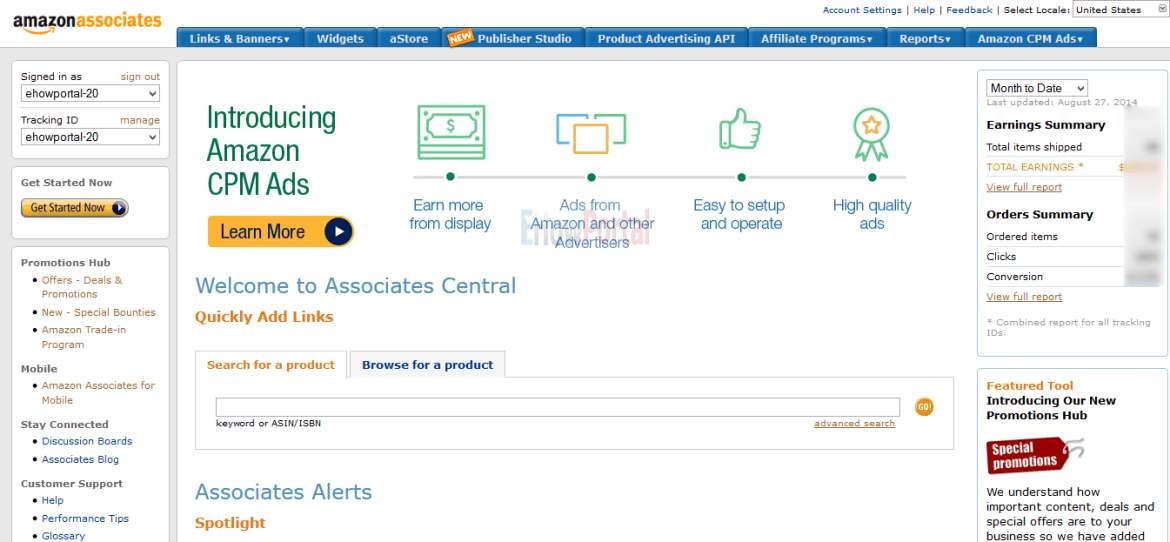 Amazon CPM Ads Dashboard