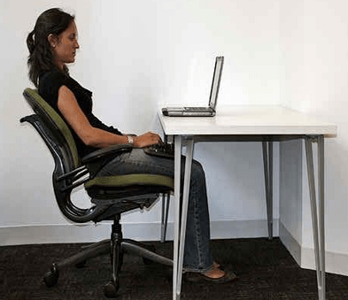 Better Position to Use Laptop
