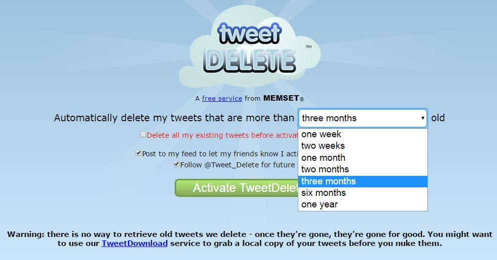 Tweetdelete - Delete All My Tweets