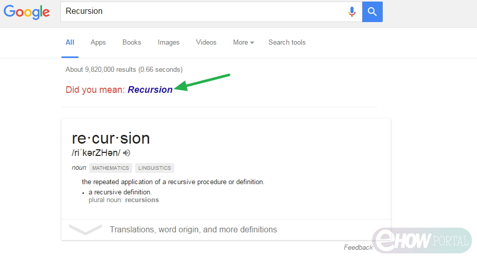Search for 'Recursion'