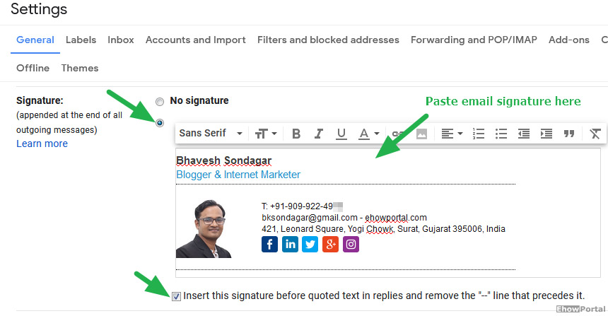 Professional Email Signature Generator With Templates