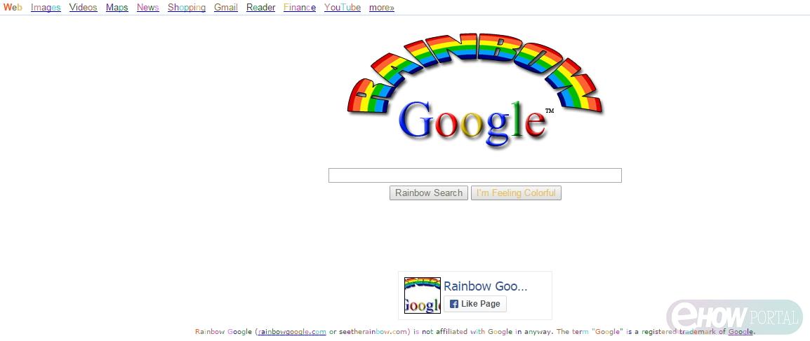 google rainbow im feeling lucky