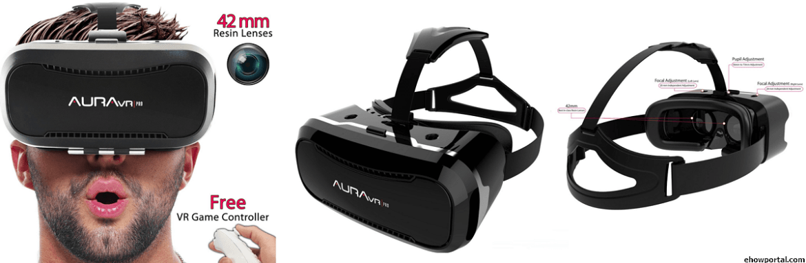 AuraVR Pro VR Headset with Remote Controller