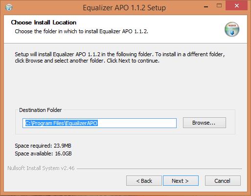 Choose Install Location