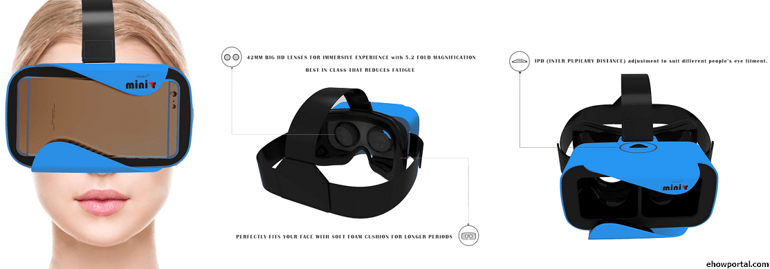 MINIVR with BIGGER 42MM HD VR