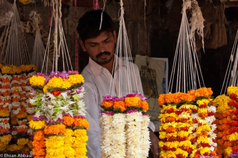 An Indian Flower Salesman