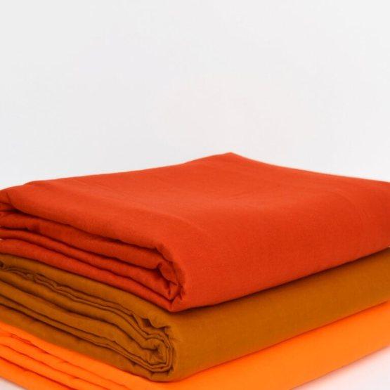 Orange & rust voile