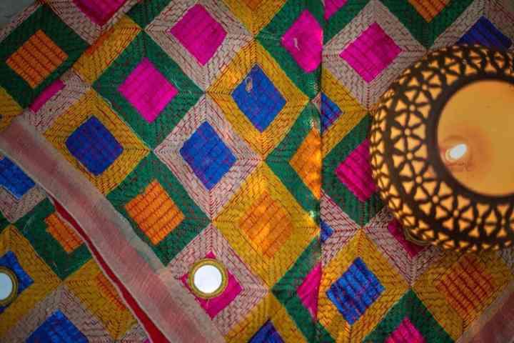 Modern Color Phulkari - Mirror Work