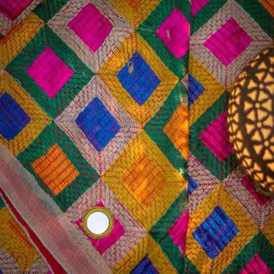 Modern Color Phulkari - Mirror Work