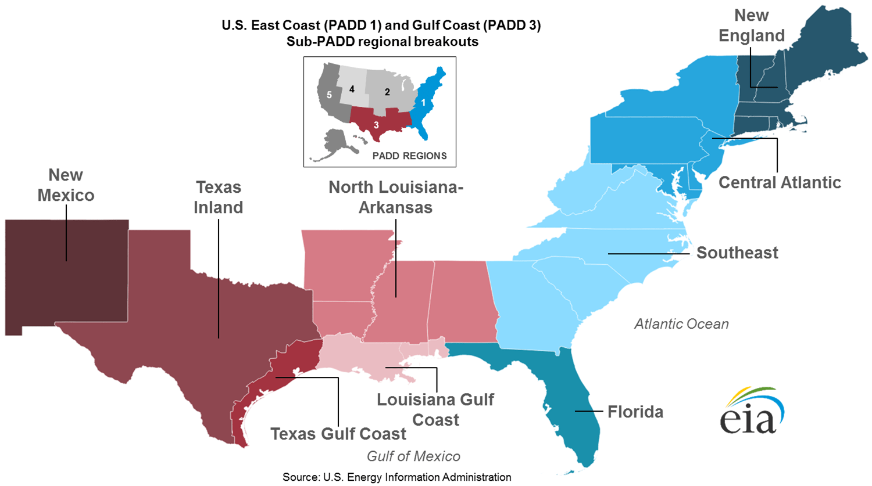 East Coast And Gulf Coast Transportation Fuels Markets