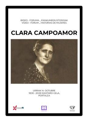 Emakumeen istorioen bideo-Foruma: Clara Campoamor
