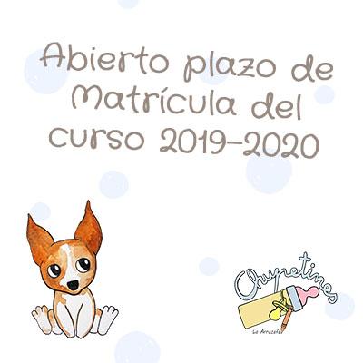Abierto plazo de matrícula 2019-2020