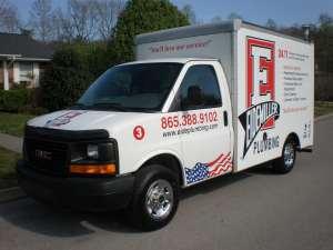 a 3/4 shot of an eidemiller plumbing truck