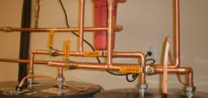 copper pipes fitted into water heaters in knoxville, tn