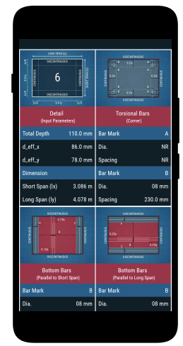 slab design civil engineering android apps