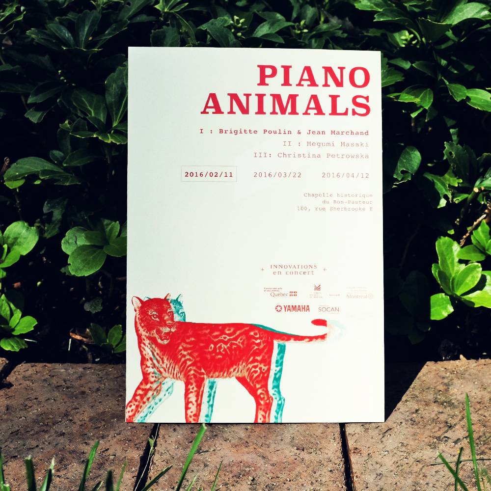 Piano Animals Poster A