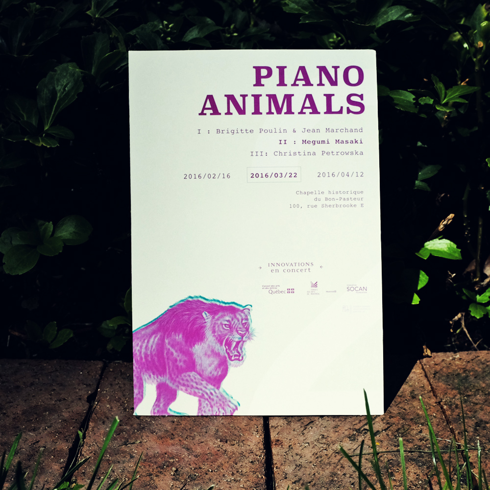 Piano Animals Poster B