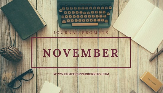 Gratitude Journal Prompts | visit www.eightpepperberries.com for monthly journal prompts
