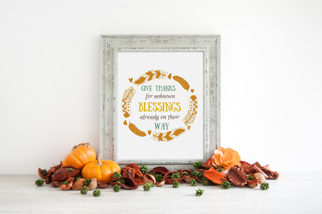 Free Thanksgiving Printable | Eight Pepperberries blog.