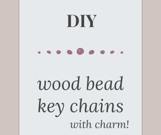 diy painted wood bead keychains with charm, perfect for valentines day >> Eight Pepperberries