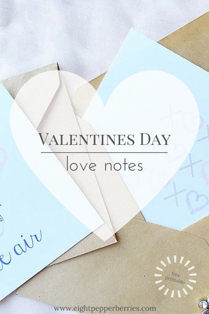 Sweet Little Love Notes [free printable]