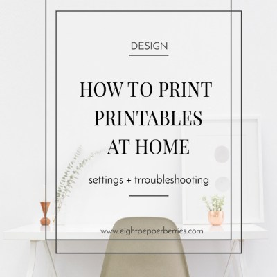 Printing Printables: How To Print At Home