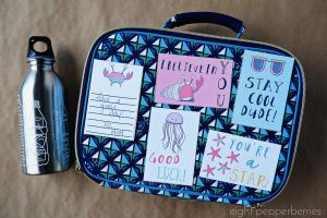 FREE Seaside lunchbox notes for kids. Full collection of all 40 lunchbox notes can be found on Etsy >> www.eightpepperberries.etsy.com