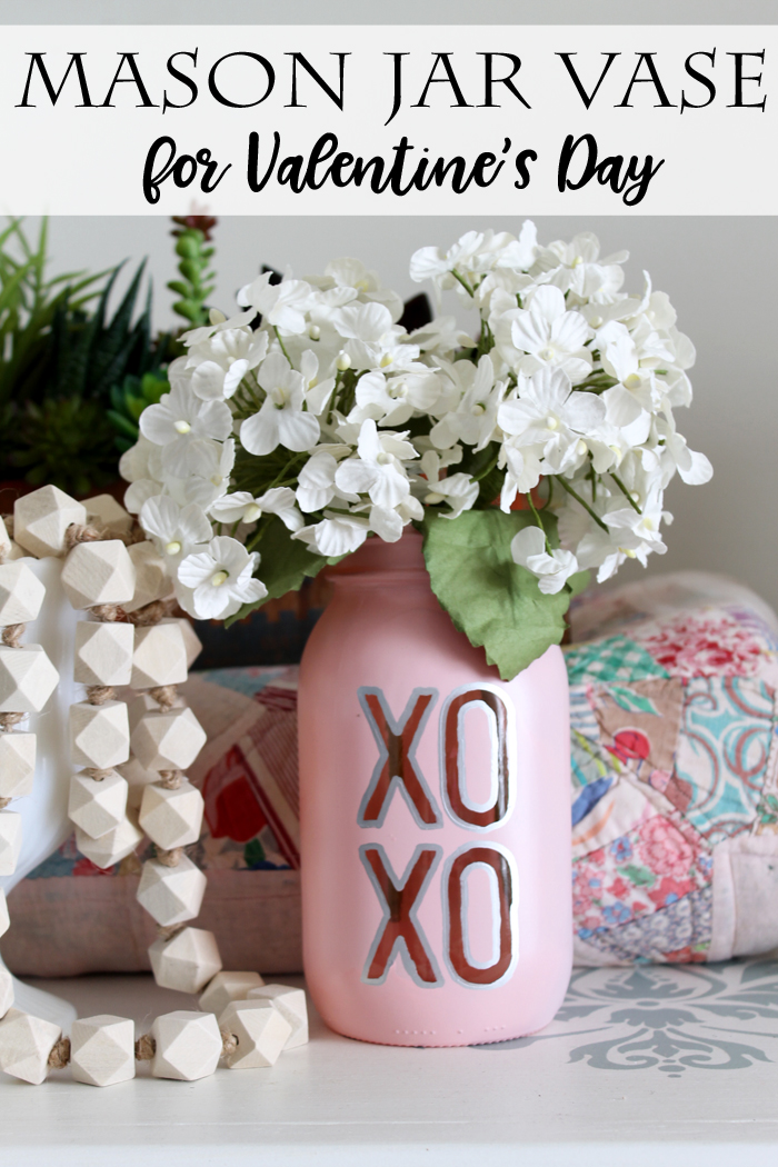 DIY Mason Jar For Valentines Day by The Country Chic Cottage featured on Totally Terrific Tuesday host by Eight Pepperberries