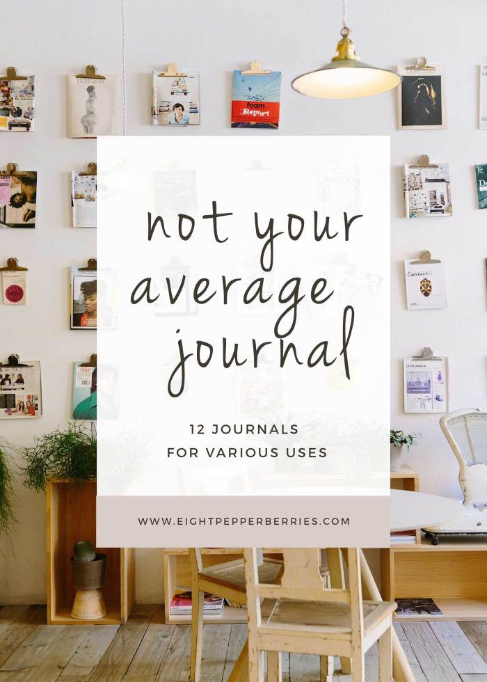 Not Your Average Journal | 12 Journals For Various Uses: Pregnancy, Travel, Recipes, Goals, etc. >> Eight Pepperberries