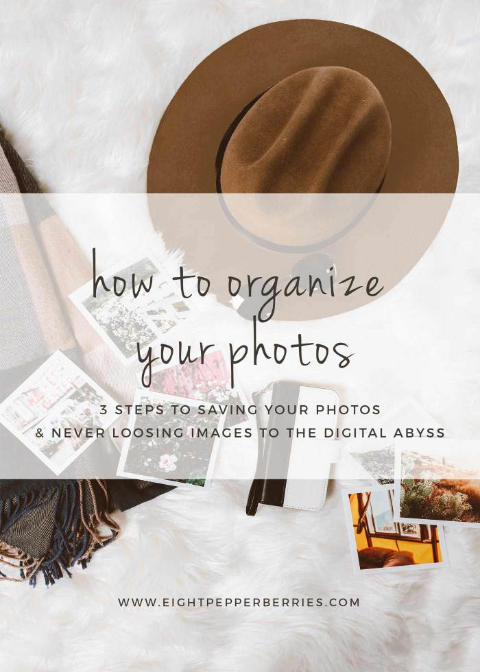 How To Organize Photos: 3 Steps To Less Photo Reel Overwhelm. Organize Your Photos Quickly & Find Them Easily In The Future >> Eight Pepperberries