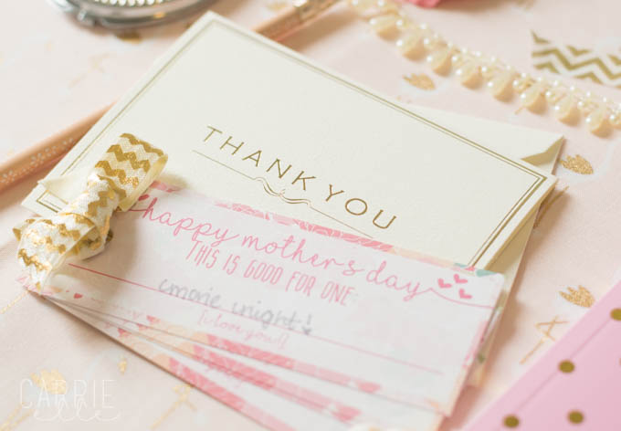 Printable Mothers Day Coupon Book by Carrie Elle blog featured on Totally Terrific Tuesday hosted by Eight Pepperberries
