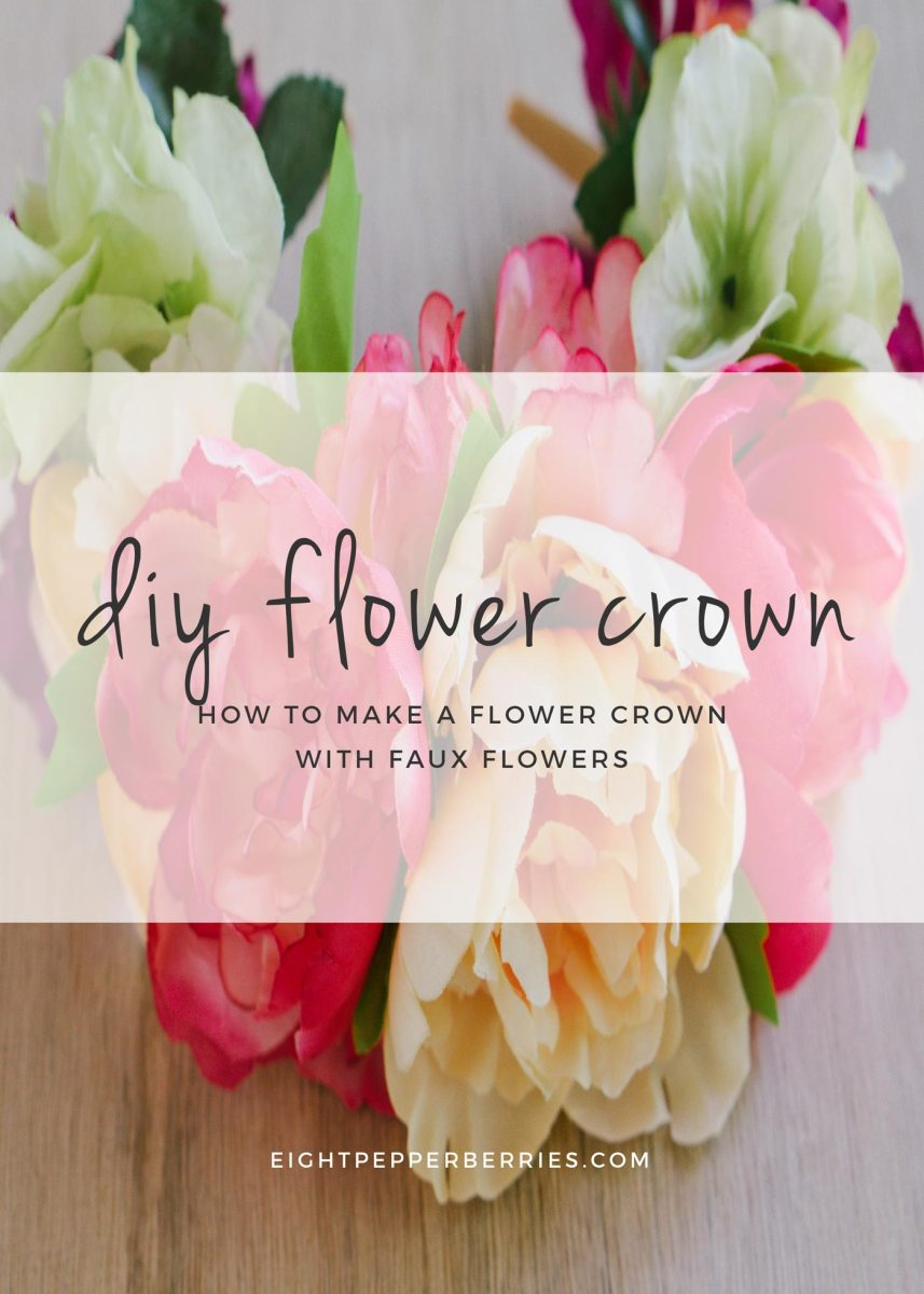 DIY Faux Flower Crown