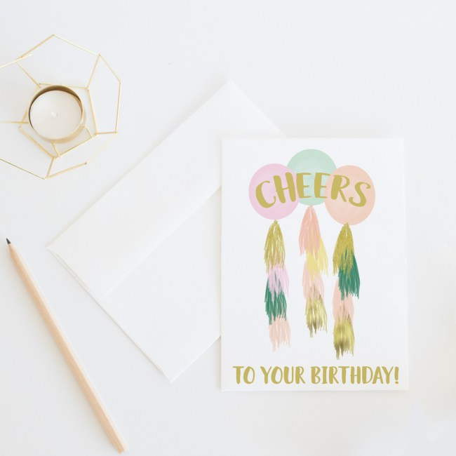Cheers To Your Birthday || Birthday card by Eight Peppberberries
