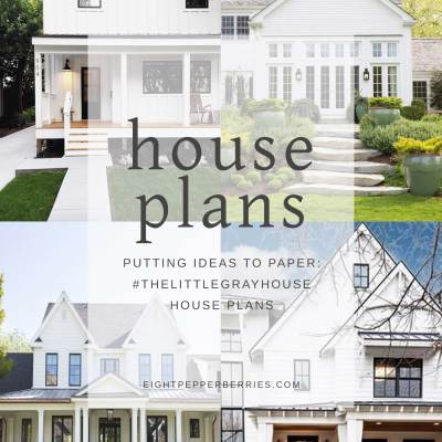 Putting Ideas To Paper: #TheLittleGrayHouse Design Plans