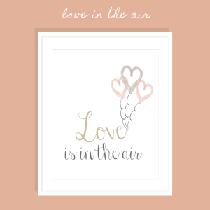 Love Is In The Air FREE Printable Art Print >> Eight Pepperberries