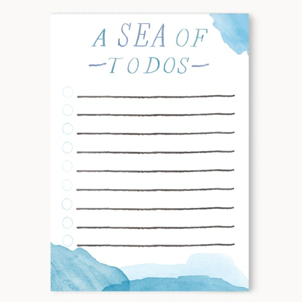 """A Sea Of To Dos List Notepad 
