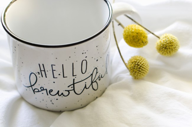 Hello Brewtiful | Ceramic Camper Mug by Eight Pepperberries