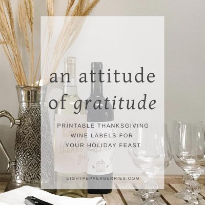 An Attitude Of Gratitude With Free Wine Labels