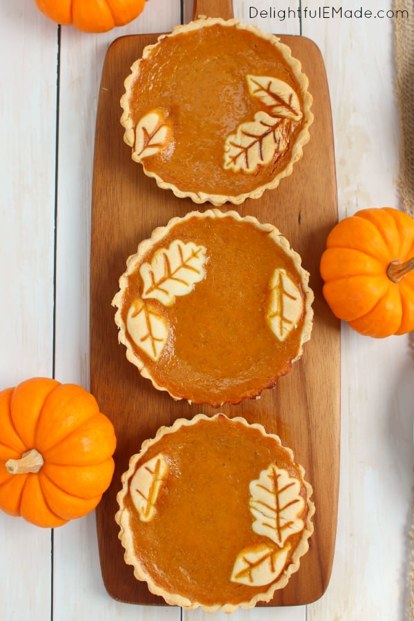 Pumpkin Pie Tarts by Delightful E Made featured at the Totally Terrific Tuesday Link Party hosted by Eight Pepperberries