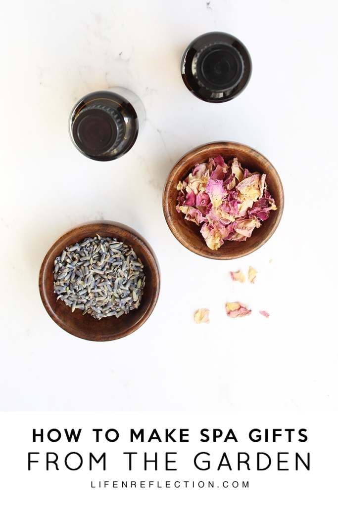 Homemade Spa Gifts From The Garden by Life N Reflection featured at the Totally Terrific Tuesday Link Party hosted by Eight Pepperberries