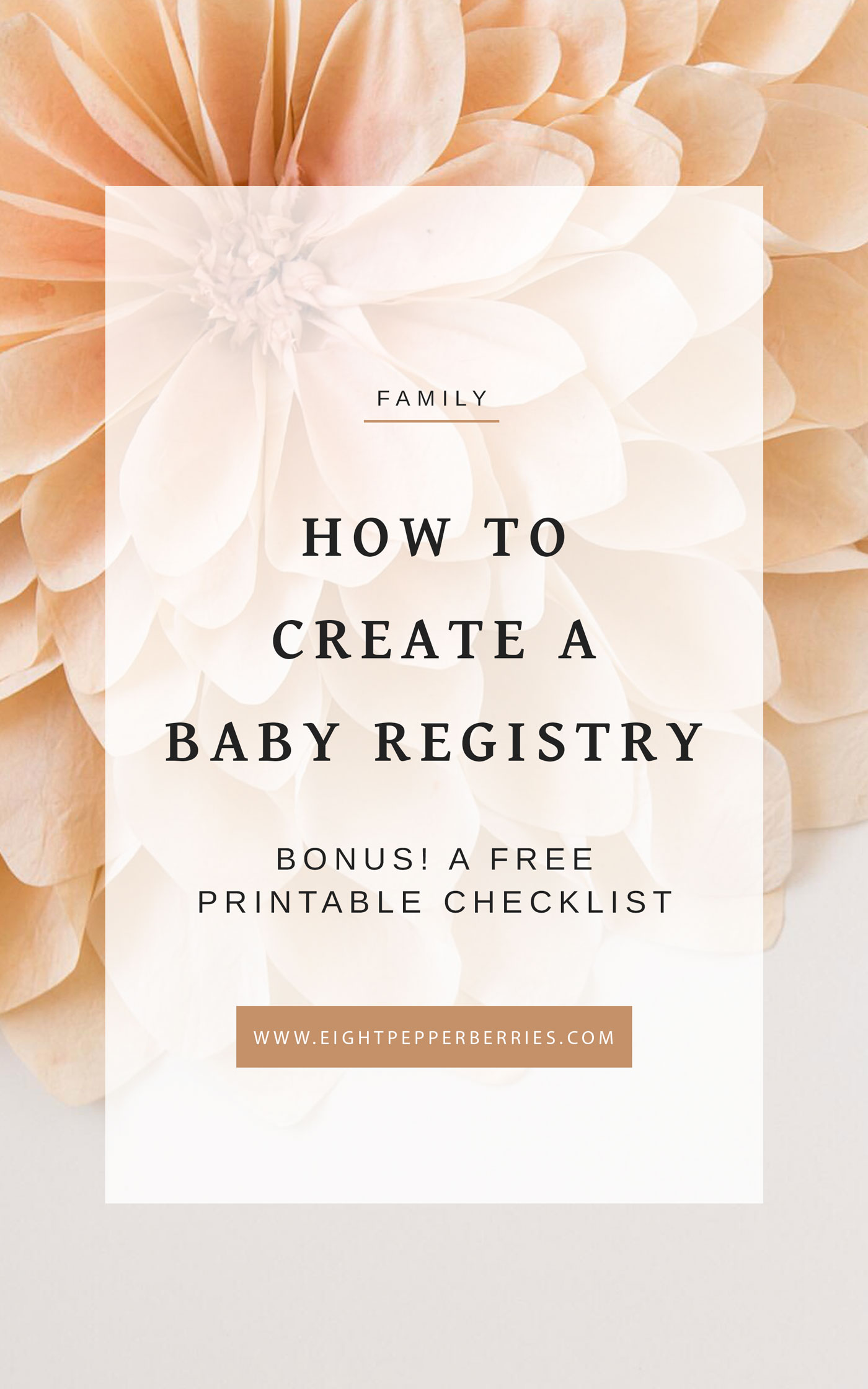 how to create a baby registry a printable checklist eight pepperberries