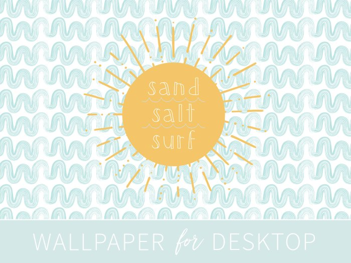 Have some fun in the sun with the Sand Salt Surf summer wallpaper for by Eight Pepperberries. Download the wallpaper here: http://bit.ly/2t552zJ