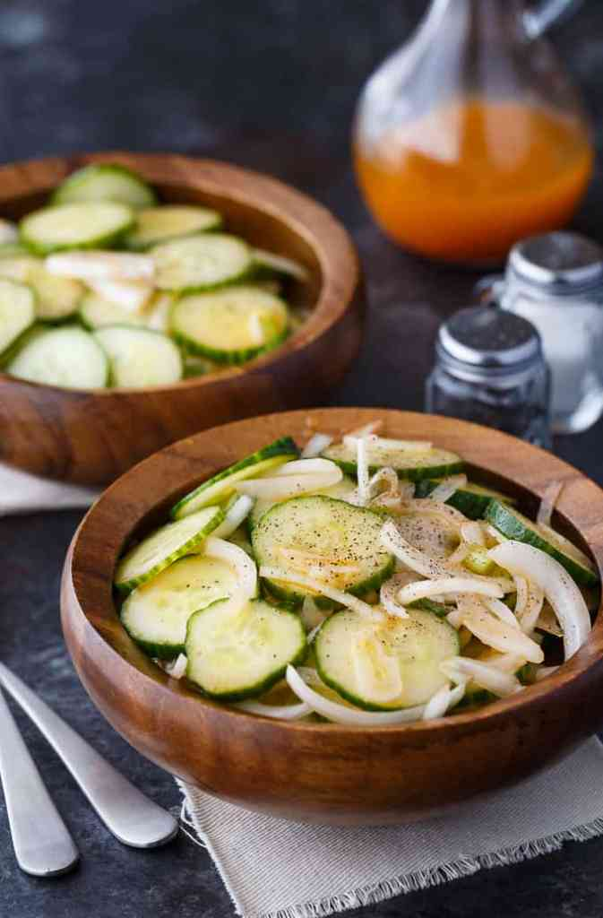 Cucumber Salad Recipe by Simply Stacie featured at the Totally Terrific Tuesday Link Party hosted by Eight Pepperberries