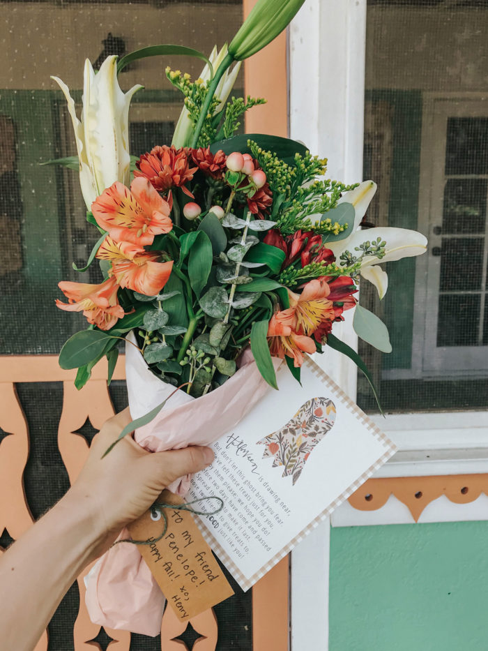 spread cheer with diy petite fall flower bouquets and you've been boo'd cards