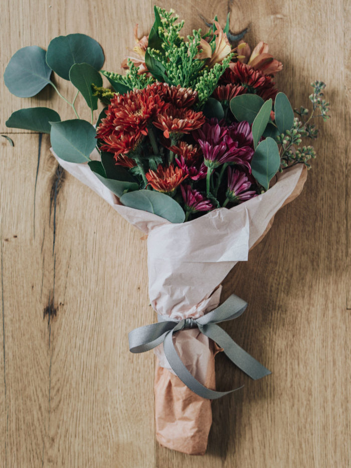 DIY petite fall flower bouquet